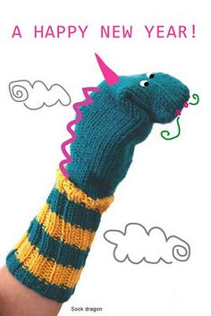 Dragon sock Puppet