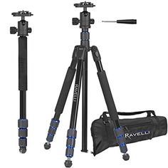 "Ravelli APGL5 Professional 65"" Ball Head Camera Video Photo Tripod with Quick Release Plate and Carry Bag - The Ravelli APGL5 is a Professional Quality Tripod that provides a solid base for high-end photographic equipment. This model is made from Aluminum to create a light weight and sturdy tripod. The ball head provides smooth adjustments to any angle. The center column is gearless and the legs can... - http://ehowsuperstore.com/bestbrandsales/camera-photo/ravelli-apgl5-prof"