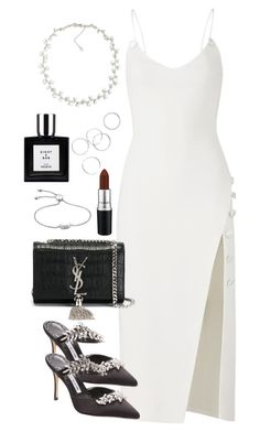 """Untitled #5432"" by theeuropeancloset on Polyvore featuring David Koma, Manolo Blahnik, Yves Saint Laurent, Carolee and Monica Vinader"