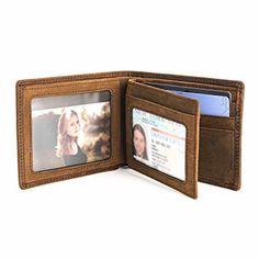 190bda7b5ab3 DUEBEL Men s Genuine Leather Multi-Card Center Flip Vintage Slim Bifold  Wallet Review