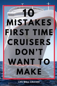 If you've booked a cruise and will be cruising for the first time, these tips will help you to avoid some mistakes new cruisers make and regret! #cruises #cruisetips #firsttimecruise #tipsforcruises #cruise #familycruising #cruising Cruise Excursions, Cruise Destinations, Cruise Port, Cruise Travel, Cruise Vacation, Vacations, Cruise Ship Reviews, Best Cruise Ships, Packing List For Cruise