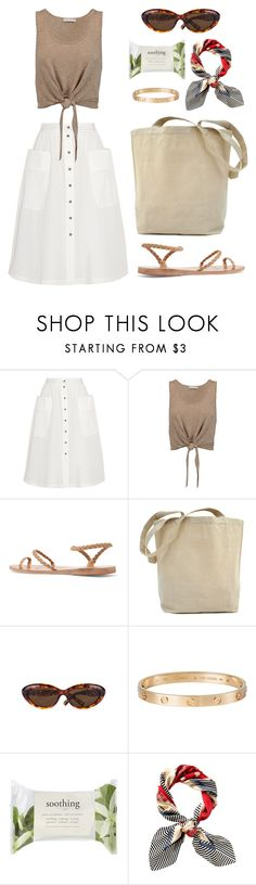 """Vintage vibes - summer outfit"" by fashion-indie ❤ liked on Polyvore featuring Tomas Maier, Alice + Olivia, Ancient Greek Sandals, Ted Baker, Cartier, Forever 21, Juicy Couture and vintage"