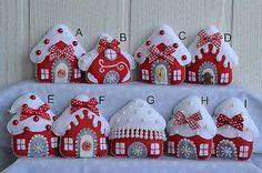 E.Creative / Vianoce 2016 - červené domčeky
