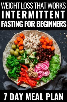 Diet Challenge Intermittent Fasting for Weight Loss. Beginners guide for a healthy, low carb meal plan to jump-start your weight loss efforts! Weight Loss Meals, Diet Plans To Lose Weight, How To Lose Weight Fast, Lose Fat, Vegan Weight Loss Plan, 5 2 Diet Plan, Reduce Weight, Stop Eating, Clean Eating
