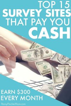 Top Legit Survey Companies That Will Pay You in Cash Surveys That Pay Cash, Survey Sites That Pay, Survey Companies, Earn More Money, Ways To Save Money, Money Saving Tips, How To Make Money, Make Money From Home, Make Money Online
