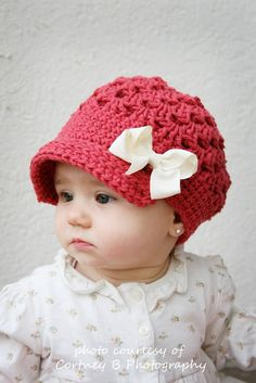 Items similar to rose cap with brim- optional flower-0 to 3 months to 4T- 100%COTTON on Etsy