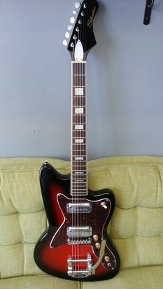 Silvertone 1478 Silhouette Electric Guitar Classic Reissue w 3 Day Vacation | eBay