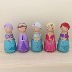 Sparkly Mermaid Peg Doll