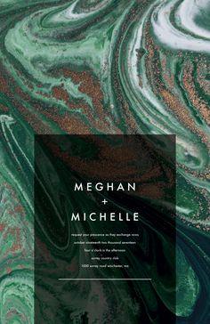 Green Marble Swirls Invitation | weddings by Vistaprint