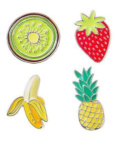 Loving this Fruit Enamel Pin - Set of Four on #zulily! #zulilyfinds