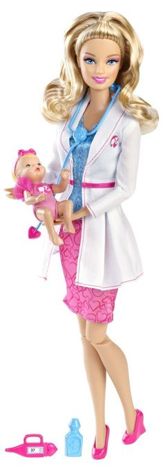 Barbie I Can Be Baby Doctor Doll: Toys & Games