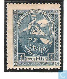 1920 Latvia - 100 Blue