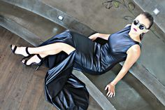 Elegant leather dress by Amourie Becker. Leather Skirt, The Originals, Elegant, Formal, Skirts, Fashion Design, Dresses, Classy, Preppy
