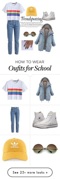 """""""Retro School"""" by inzlee on Polyvore featuring Converse and adidas"""