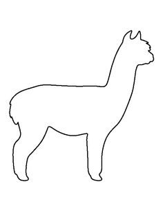 Alpaca pattern. Use the printable outline for crafts, creating stencils, scrapbooking, and more. Free PDF template to download and print at http://patternuniverse.com/download/alpaca-pattern/