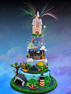 disneyland cake.That is so cute.Please check out my website thanks. www.photopix.co.nz