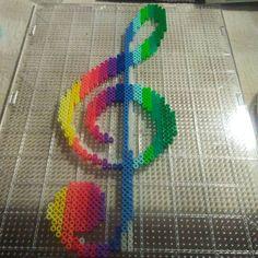 Rainbow clef perler beads by missie_marieb