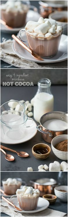 Best tasting hot cocoa ever, and so simple to make! I did this in my microwave- took just over a minute, and I had all the ingredients already on hand.: