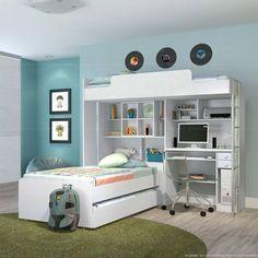 Decoração de apartamentos pequenos quarto infantil com triliche