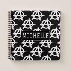 Personalized Anarchist Notebook - patterns pattern special unique design gift idea diy