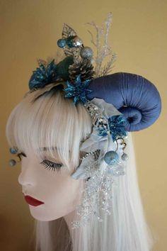 Jadis the Ice Queen Horned Goddess Headdress by AnnikasAtelier