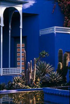 Jardin Majorelle in Marrakech - Home of Yves Saint-Laurent and Pierre Bergé