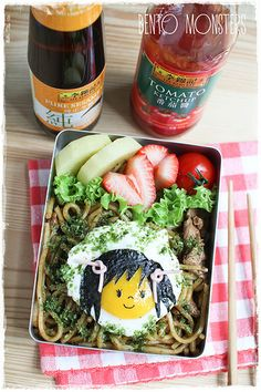 Egg Girl Yakisoba Bento via Bento Monsters. Healthy bento-box inspired lunches for the little munchkins in your life.
