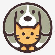 Dog and cat Dog Line Drawing, Gato Animal, Purebred Cats, Cat Background, Dog Logo, Animal Logo, Diy Stuffed Animals, Pet Shop, Pet Toys
