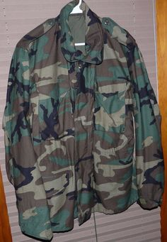 US Army Camouflage Field Coat Cold Weather Size M  Military 1990s | Clothing, Shoes & Accessories, Men's Clothing, Coats & Jackets | eBay!