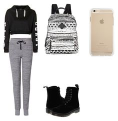 """Cute comfy school outfit"" by fungiral on Polyvore featuring Topshop, rag & bone, Dr. Martens and Madden Girl"