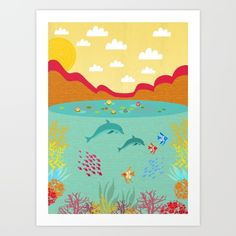 https://society6.com/product/sealife-k1n_print?curator=listenleemarie Collect your choice of gallery quality Giclée, or fine art prints custom trimmed by hand in a variety of sizes with a white border for framing.