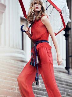 Harper's Bazaar UK April 2017 Julia Stegner by Regan Cameron - Fashion Editorials