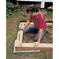 tous les plans pour fabriquer vos bacs sur lev s et jardiner debout jardin pinterest. Black Bedroom Furniture Sets. Home Design Ideas