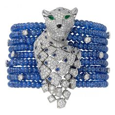 From My babies - Anniversary Gift May 1, 2013 - Cartier Diamond and Sapphire Bead Bracelet