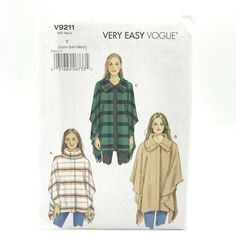 Vogue Patterns, Sewing Patterns, Plus Size Formal Dresses, Make Your Own Clothes, Vest Pattern, Cape, Things To Sell, How To Wear, 2000s