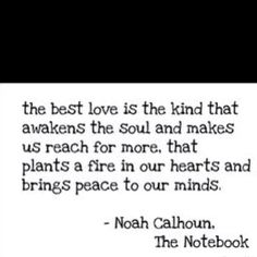 A quote from The Notebook