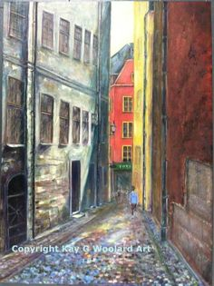 Sweden Vacation 24 x 18 acrylic painting (SOLD)