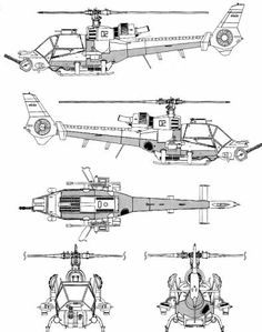 Airwolf Helicopter Blueprints - Bing Images