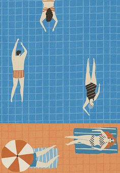 Pay homage to pool days with a print by illustrator Naomi Wilkinson.