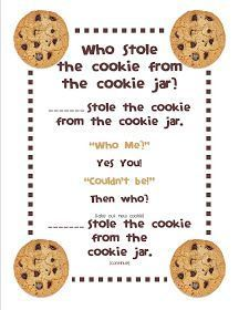 Gilchrist's Class: Who stole the cookie from the cookie jar? Gilchrist's Class: Who stole the cookie from the cookie jar? Freebie and a Peek at my Classroom :) – Kindergarten Lesson Plans Circle Time Songs, Circle Time Activities, Name Activities, Circle Time Ideas For Preschool, Toddler Circle Time, Song Time, Summer Activities, Kindergarten Songs, Preschool Songs