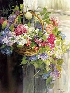 Figures Watercolour painting of artist Carolyn Blish – Best Watercolor Painting Watercolour Painting, Watercolor Flowers, Painting & Drawing, Watercolors, Watercolor Water, Garden Painting, Painting Flowers, Art Floral, Oeuvre D'art