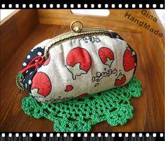 GinaHandmadeCute Strawberry Clutch Coin purse   by GinaPurseFrame, $19.50