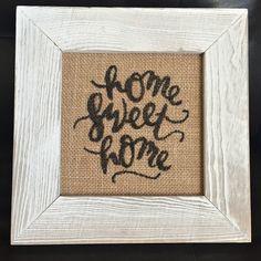 DIY Home Decor: Home Sweet Home by designer Kristine Davidson featuring Jillibean Soup Burlap Frame