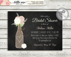 Vineyard/Winery Bridal Brunch/Shower or Wedding Invitation by LittleRoseStudio