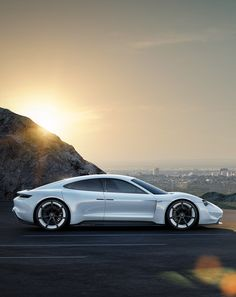 Tribute to tomorrow. Porsche Concept Study Mission E. via Porsche AG More car design here.