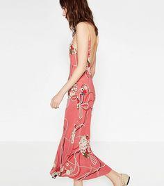 Zara Printed Camisole Dress