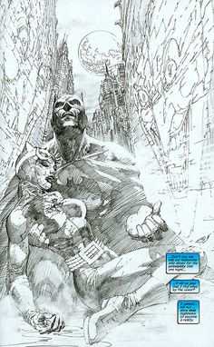 """Batman: Hush Unwrapped"" is Dürer on steroids, the Northern Renaissance dragged through the rough and roguish streets of Gotham City. Written by Jeph Loeb and drawn by Jim Lee, one of the most popular mainstream artists to emerge in the late '80s and early '90s, ""Hush"" was one of the best-selling graphic novels of the 2000s.    But ""Hush Unwrapped"" is all about the art. Printed in black-and-white right from Mr. Lee's pencil work, you can almost taste the unholy urban grit. The art, above, is…"