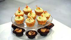 Porkkana- ja Chocolate Chip Cookie Dough Cupcakes