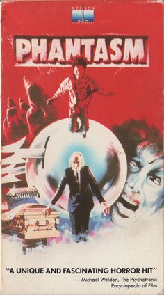 My favorite horror movie, Phantasm - Embassy Home Entertainment VHS Covers - Halloween Movies, Scary Movies, Old Movies, Ghost Movies, Horror Movie Posters, Horror Films, Classic Horror Movies, Movie Covers, Classic Monsters