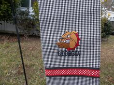 UNIVERSITY OF GEORGIA  sports towel by ALYCESCREATIONS on Etsy, $15.00